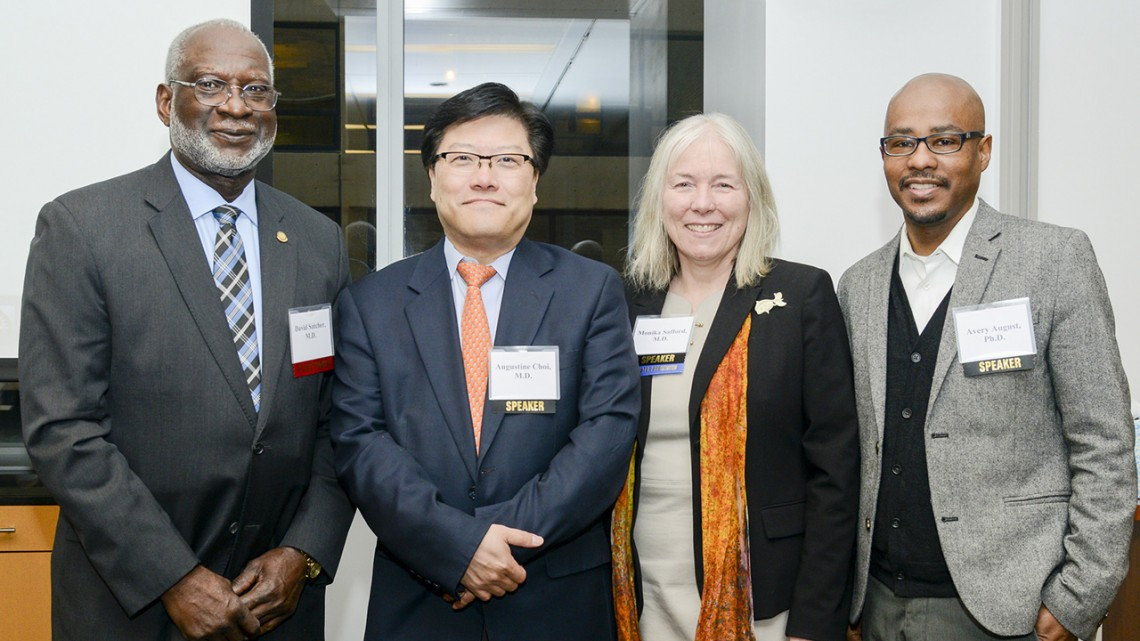 Drs. Avery August, Monika Safford, Dr. Augustine M.K. Choi, and Dr. David Satcher