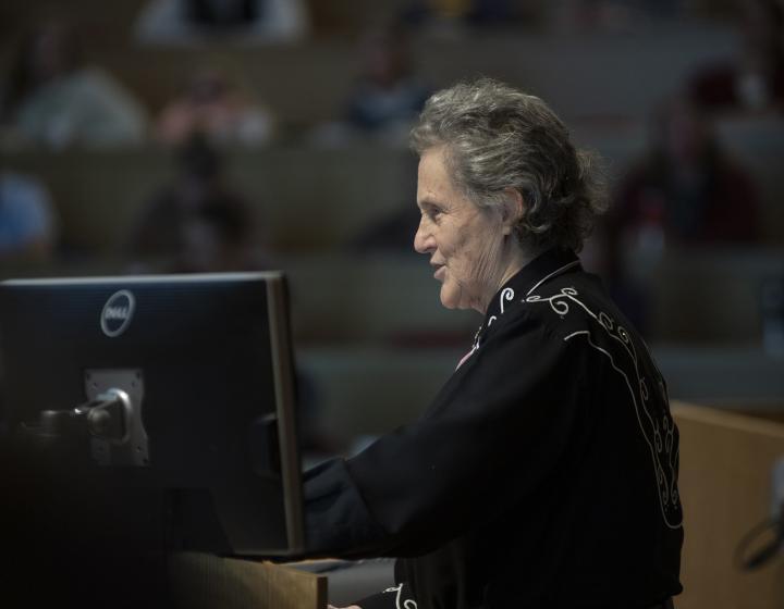 Dr. Temple Grandin speaks at the Cornell Veterinary College