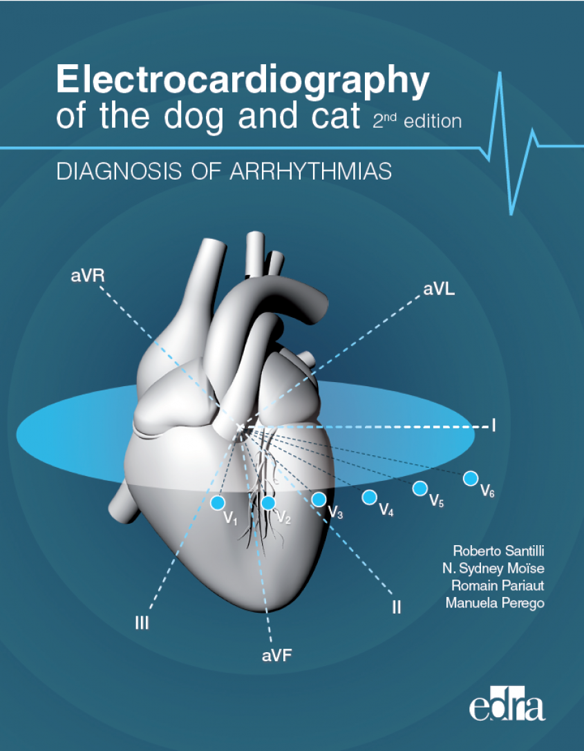 "Front cover of  ""Electrocardiography of the dog and cat, 2nd edition: Diagnosis of arrhythmias"""