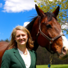 Heidi Reesink with horse at the Cornell Equine Park